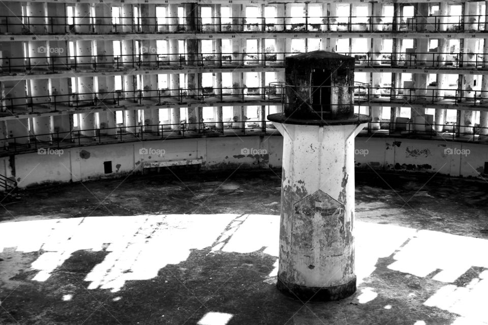 Panopticon. Presidio modelo is an abandoned prison in Cuba that used to use the panopticon design.