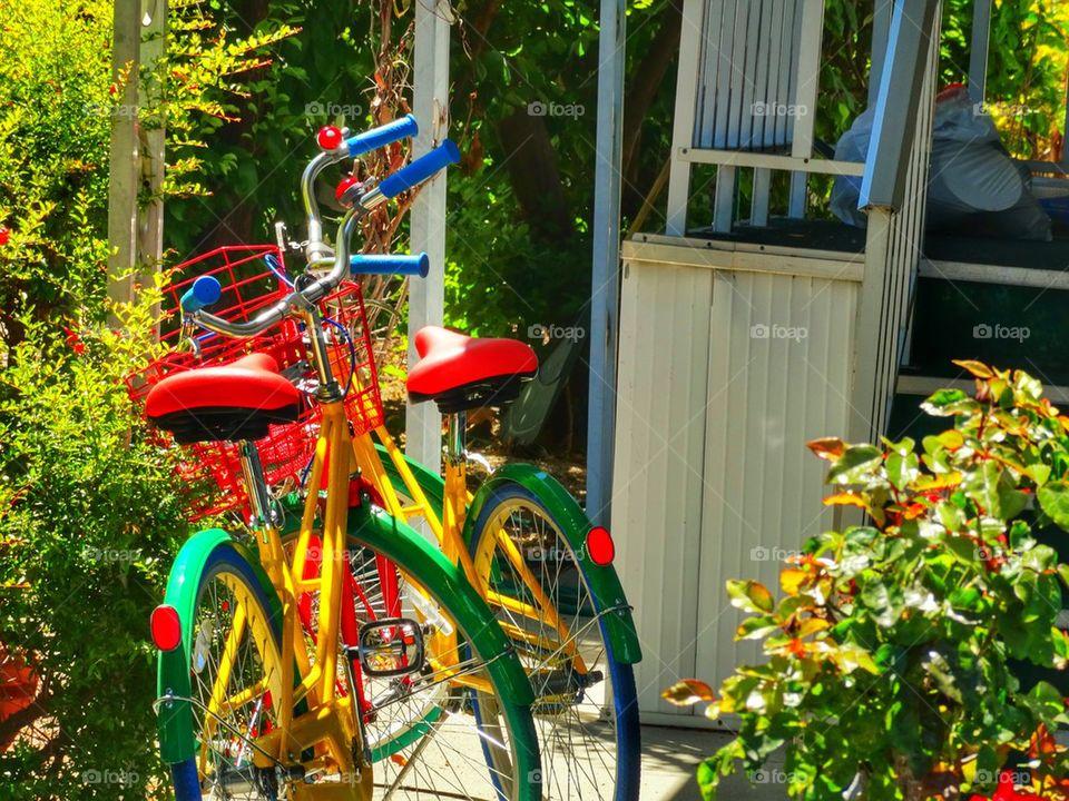 Colorful Google Bikes