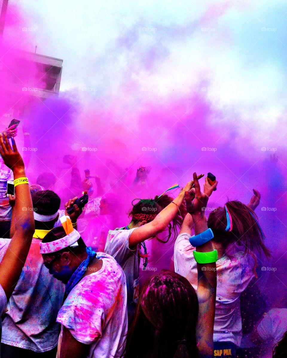 people pink purple color by vdario