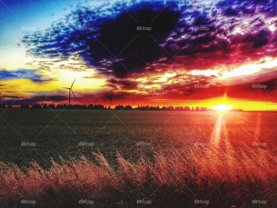 Gorgeous vivid sunset