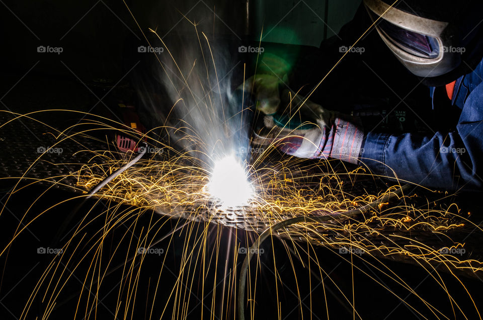 Person doing welding
