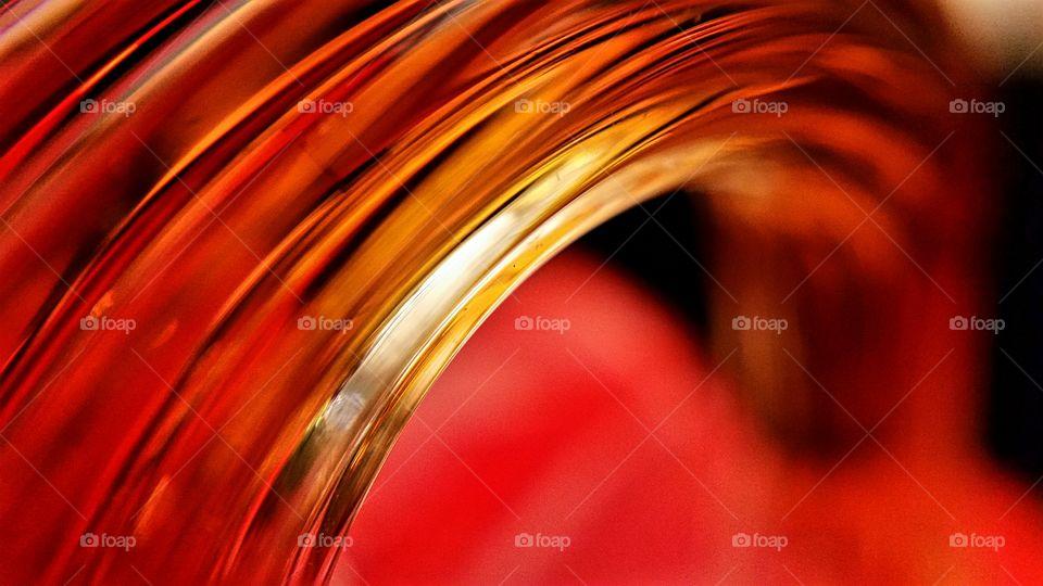 Curved Orange Glass