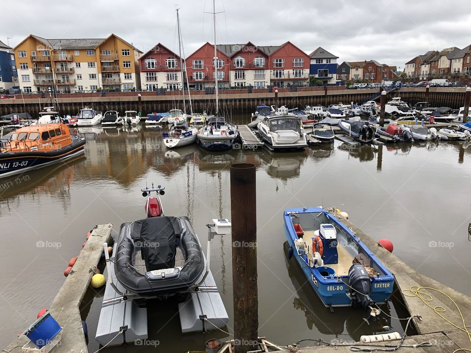 Shelley Beach Exmouth, Devon, combination of a beautiful Harbor and luxury apartments to view that Harbour.