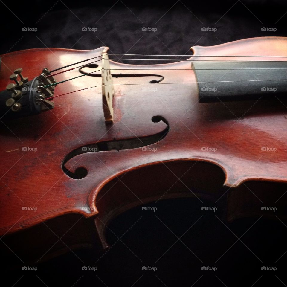 Fiddle. Close up of a fiddle