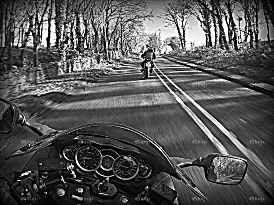 Motorcycles on Welsh Roads