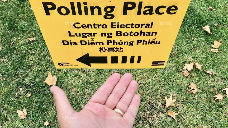 Finding your polling place to vote in the election