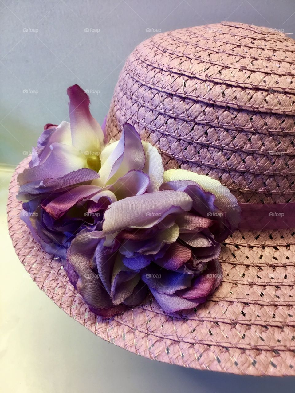 Closeup of purple hat