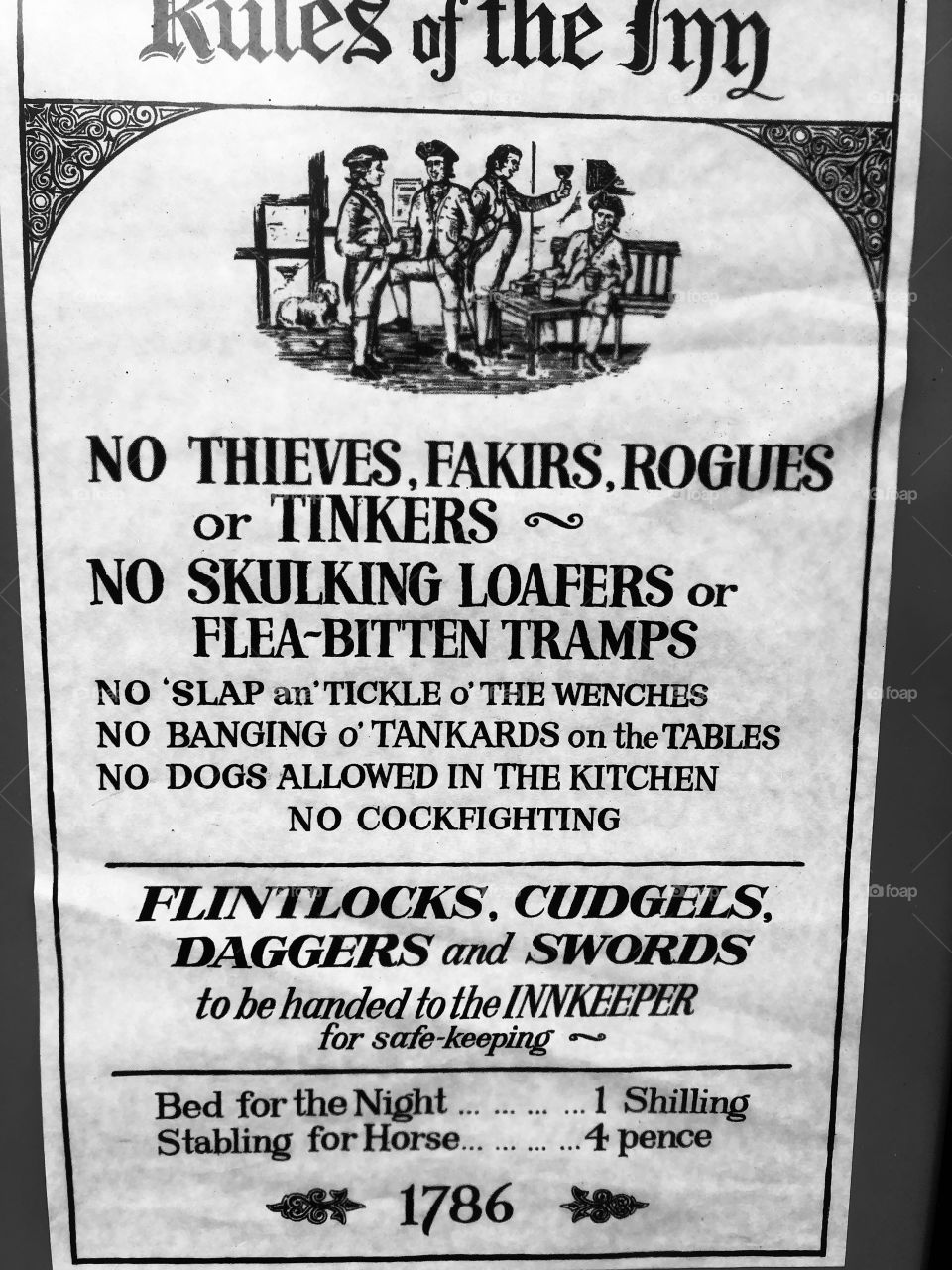 The hostelries in the late 18th century would not put up with very much bad behavior. Perhaps life was more orderly and better mannered then, than in today's 21st century Brexit.