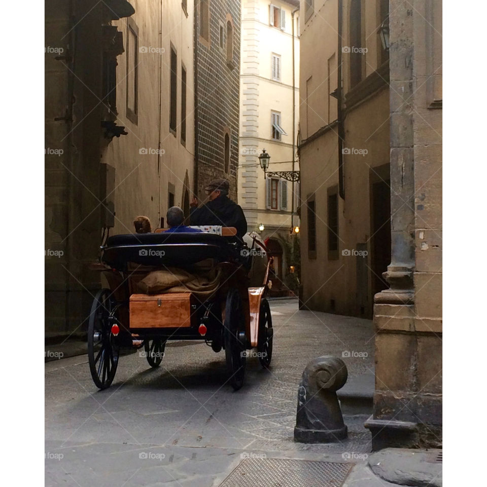 Romantic Carriage Ride. Carriage ride through Florence, Italy