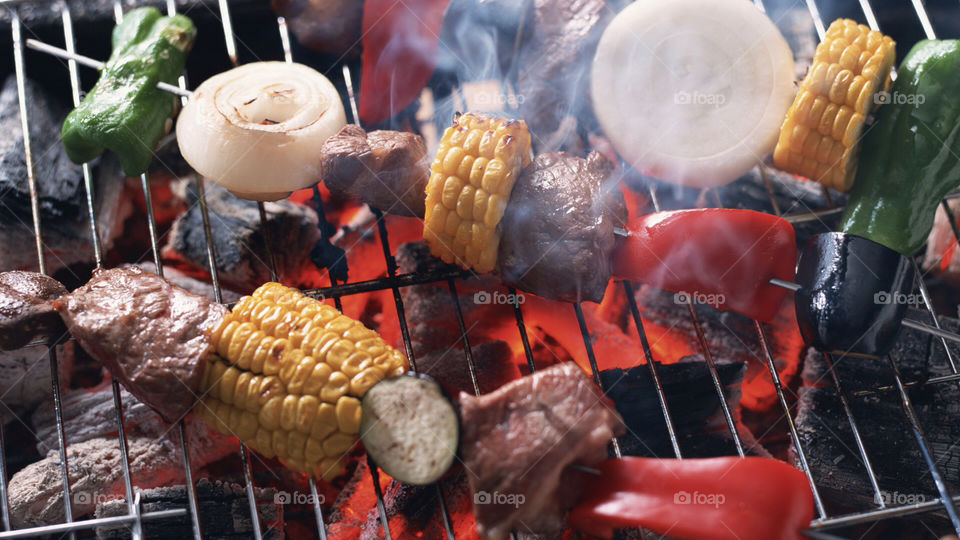 fire grill cucumber barbeque by henryadams