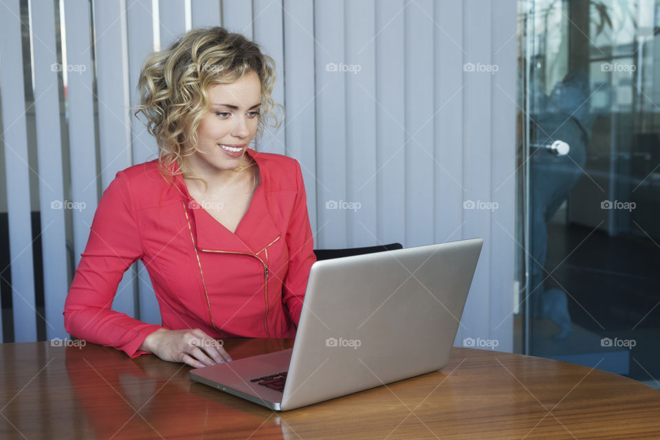 Girl with her laptop