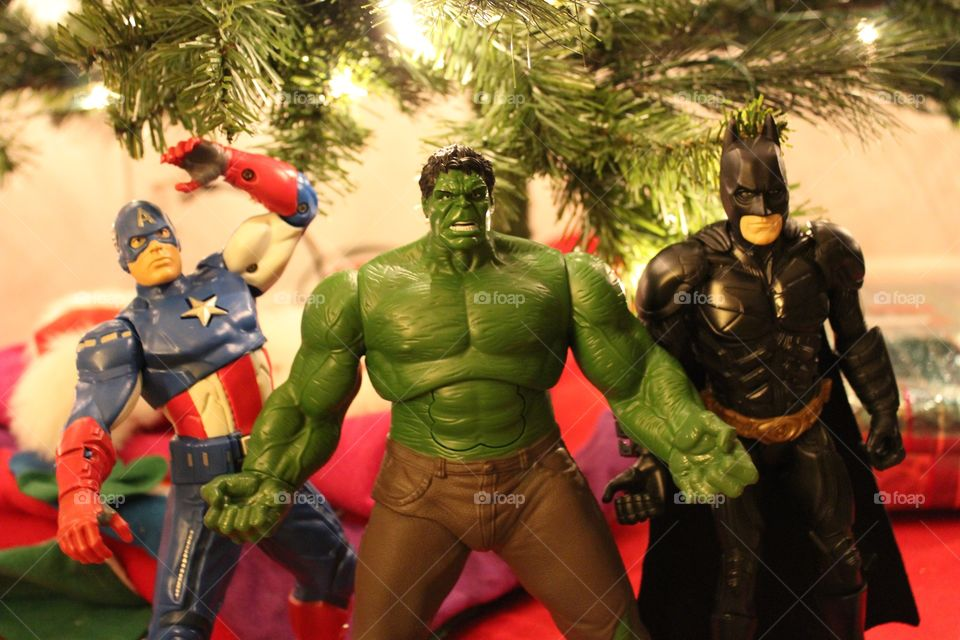 Avenger action figures. Having some fun for Christmas