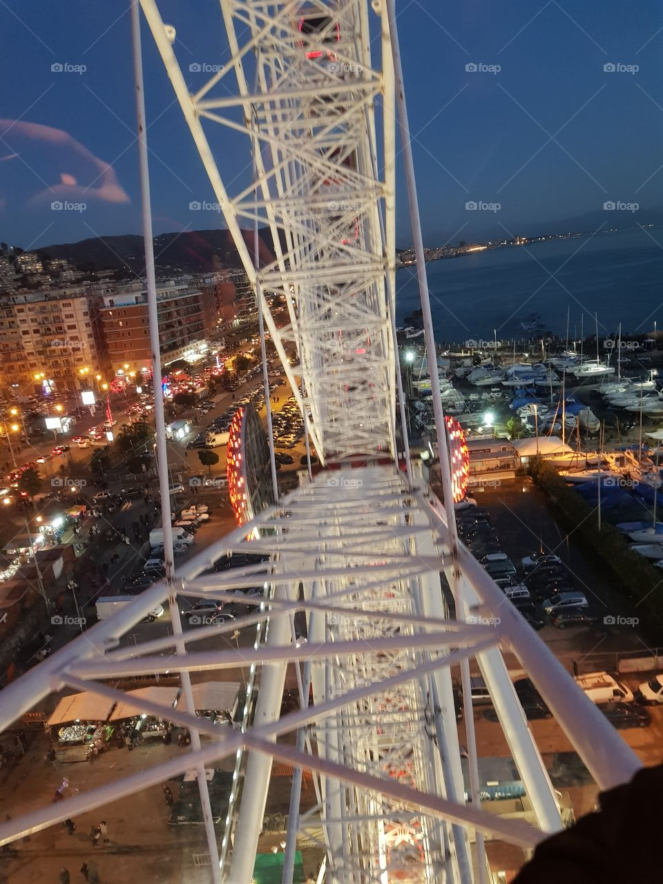 on the big wheel in Salerno, Italy