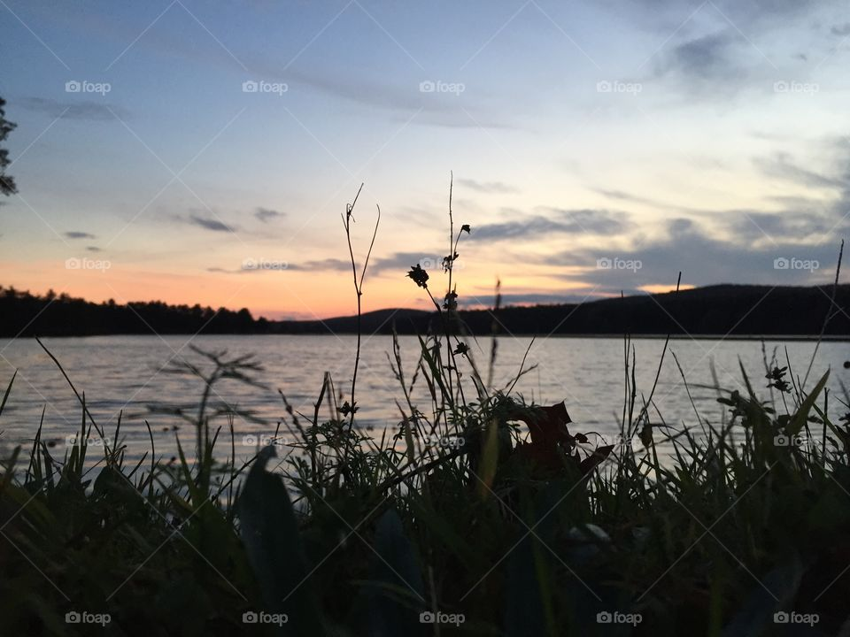 Sunset at the reservoir
