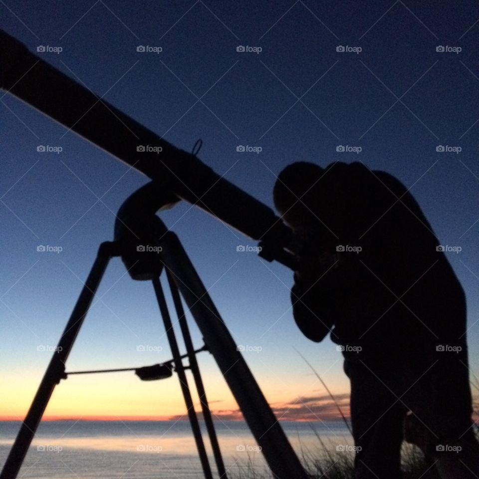 Telescope Star gazing Sunset