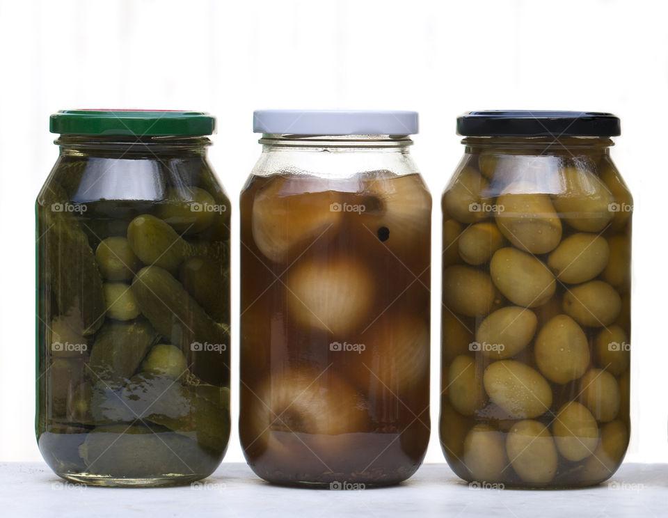 Studio shot of pickle jar
