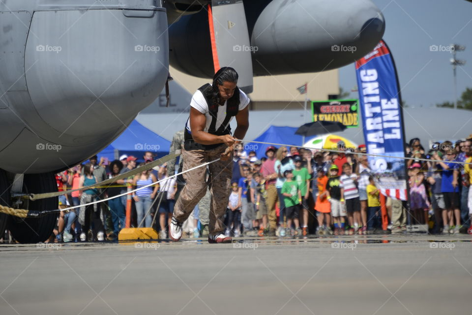 C-130J pull. This man pulled a fully functional Military Aircraft 150+ feet.