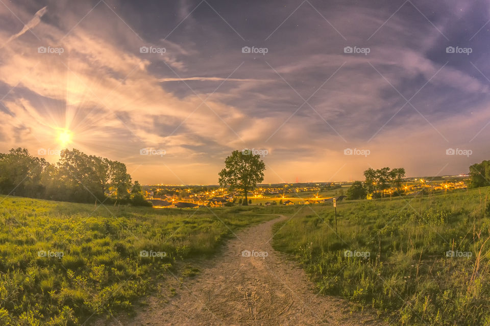 Surreal Village Twilight