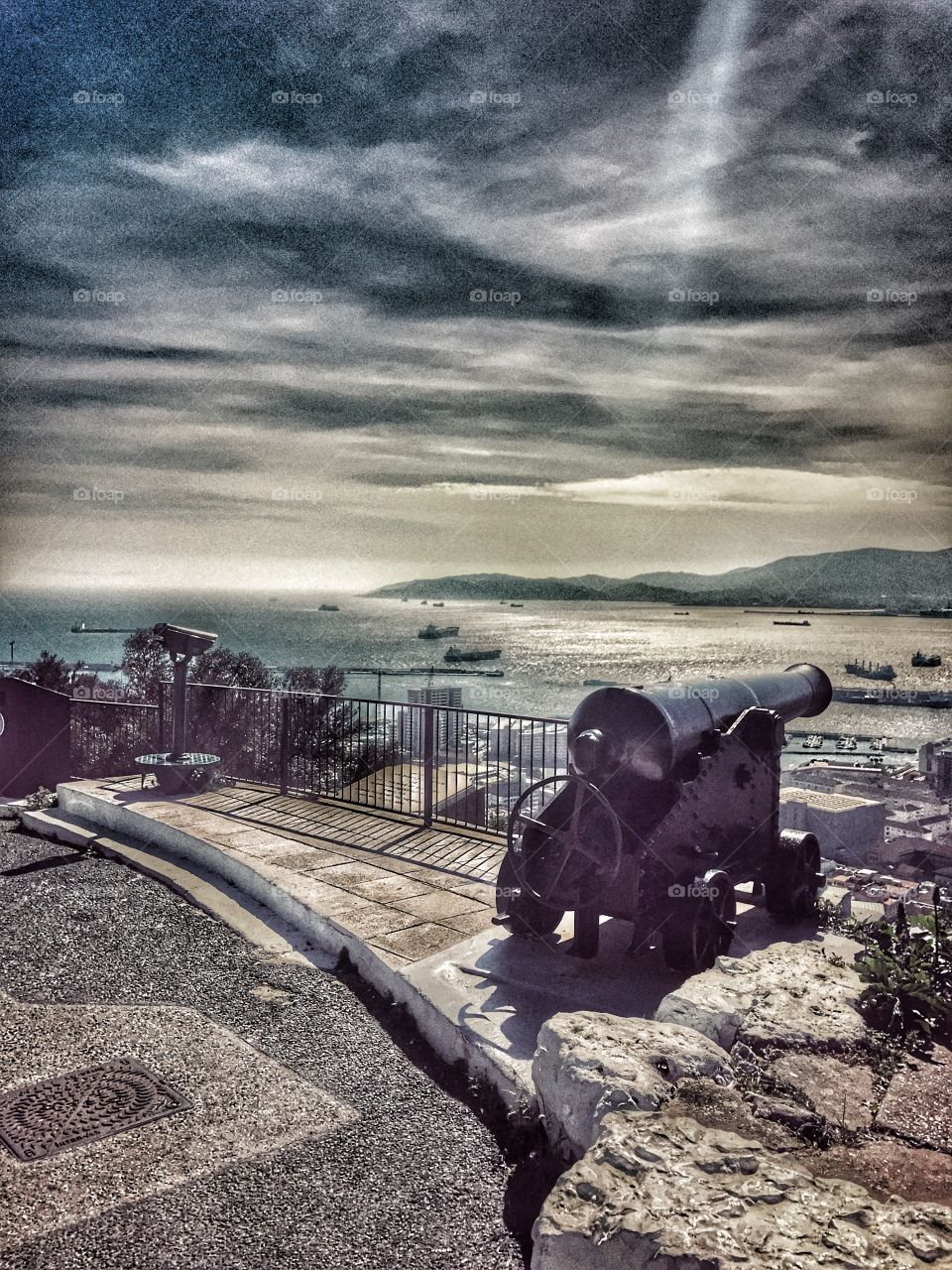 Gibraltar, cannons, history of Gibraltar , views