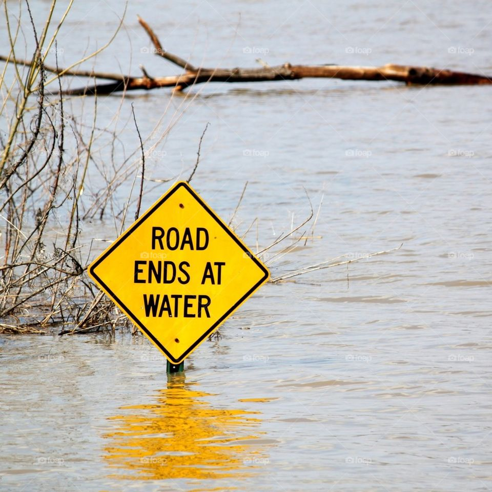 Road Ends At Water
