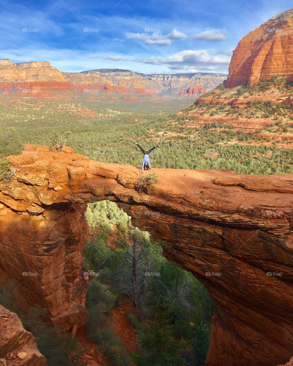 Cartwheels on Devil's Bridge in Sedona, AZ