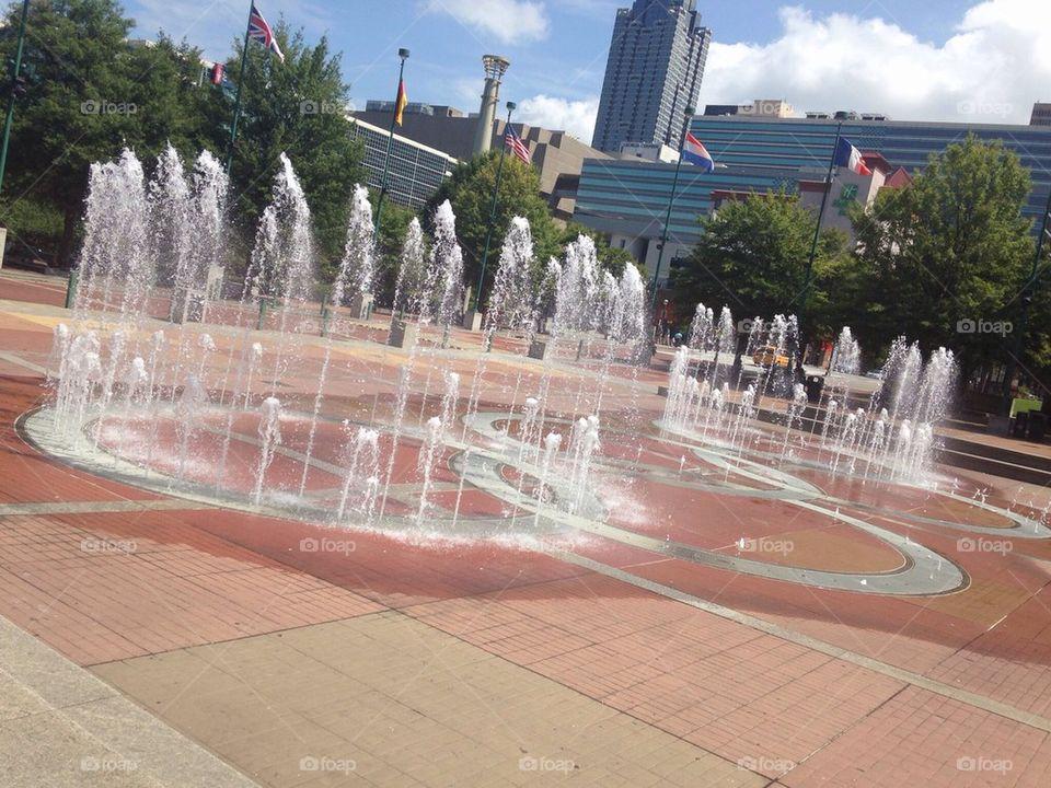 Centennial Olympic park in Atlanta, GA
