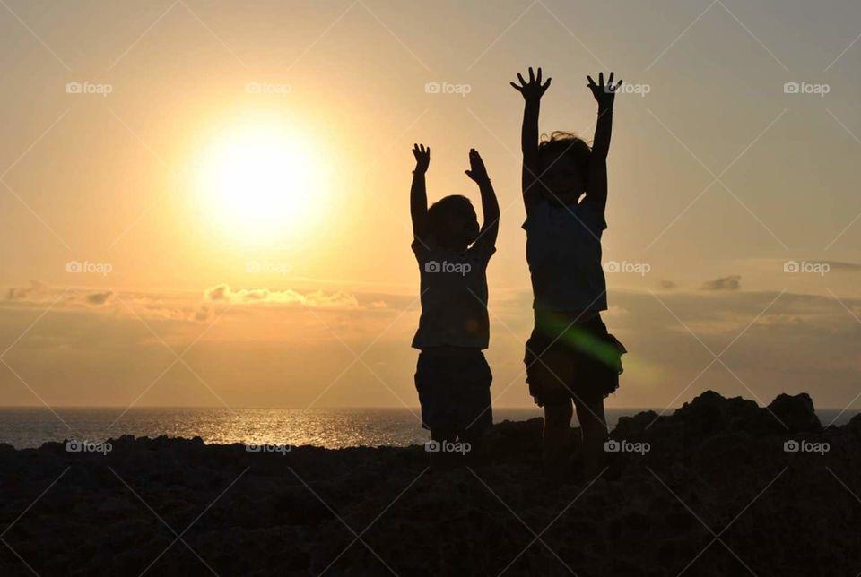 Menorca. Puesta de sol en el Far Nati de Menorca