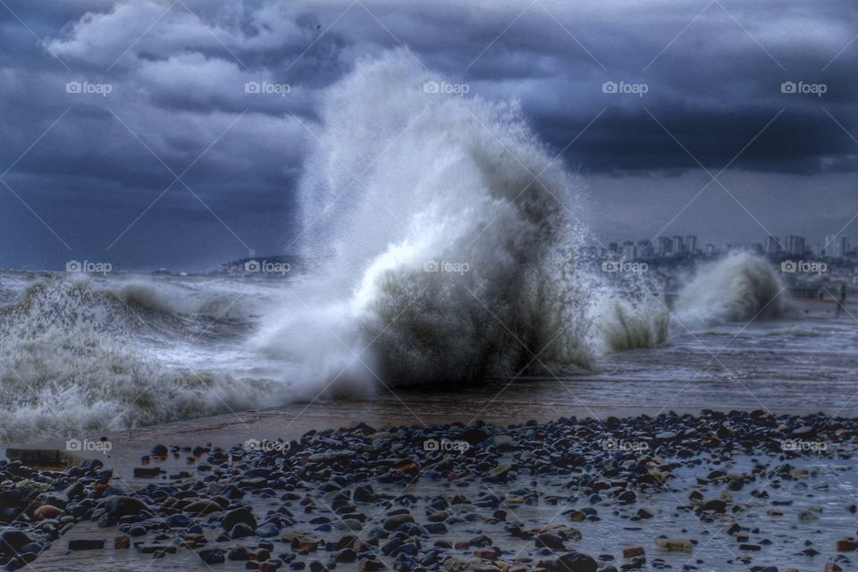 Power wave. Amazing waves
