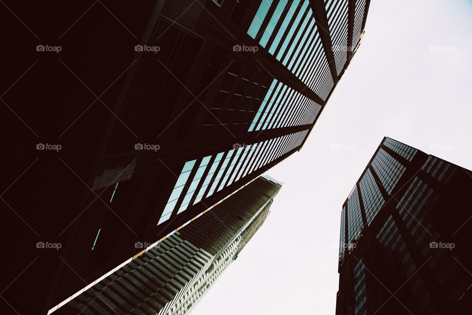Low angle view of a skyscraper