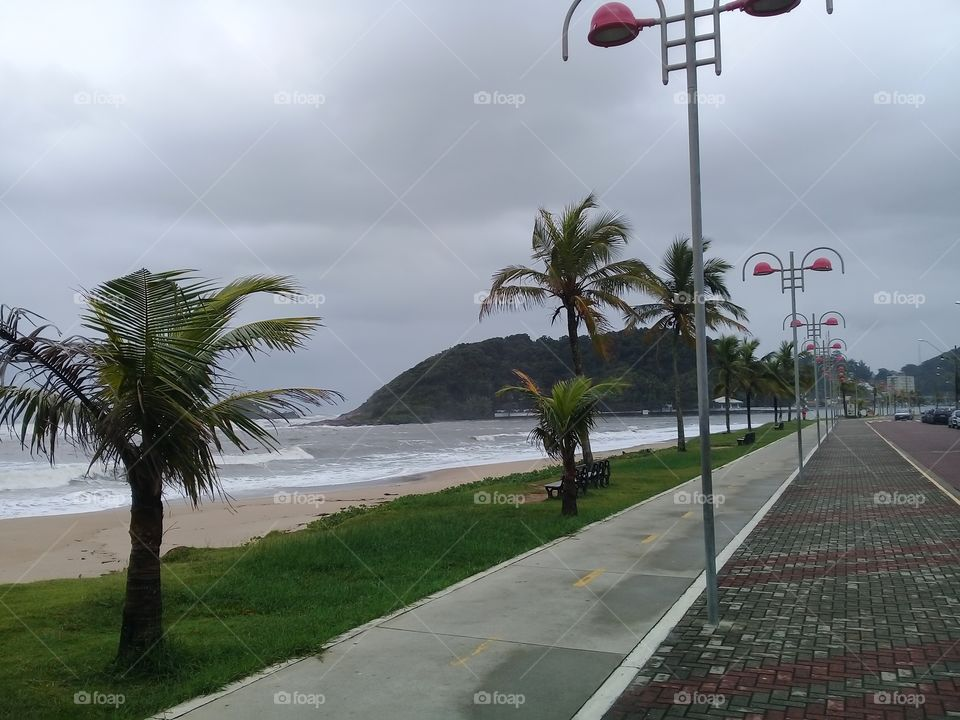 Autumn on the beach.  Cloudy day. Brasil