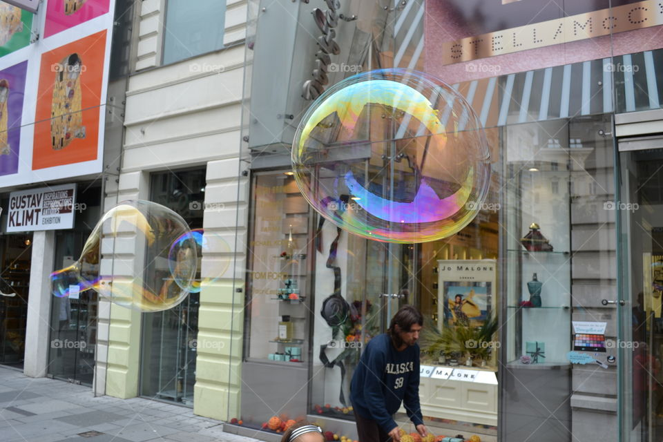 Colourful big bubbles