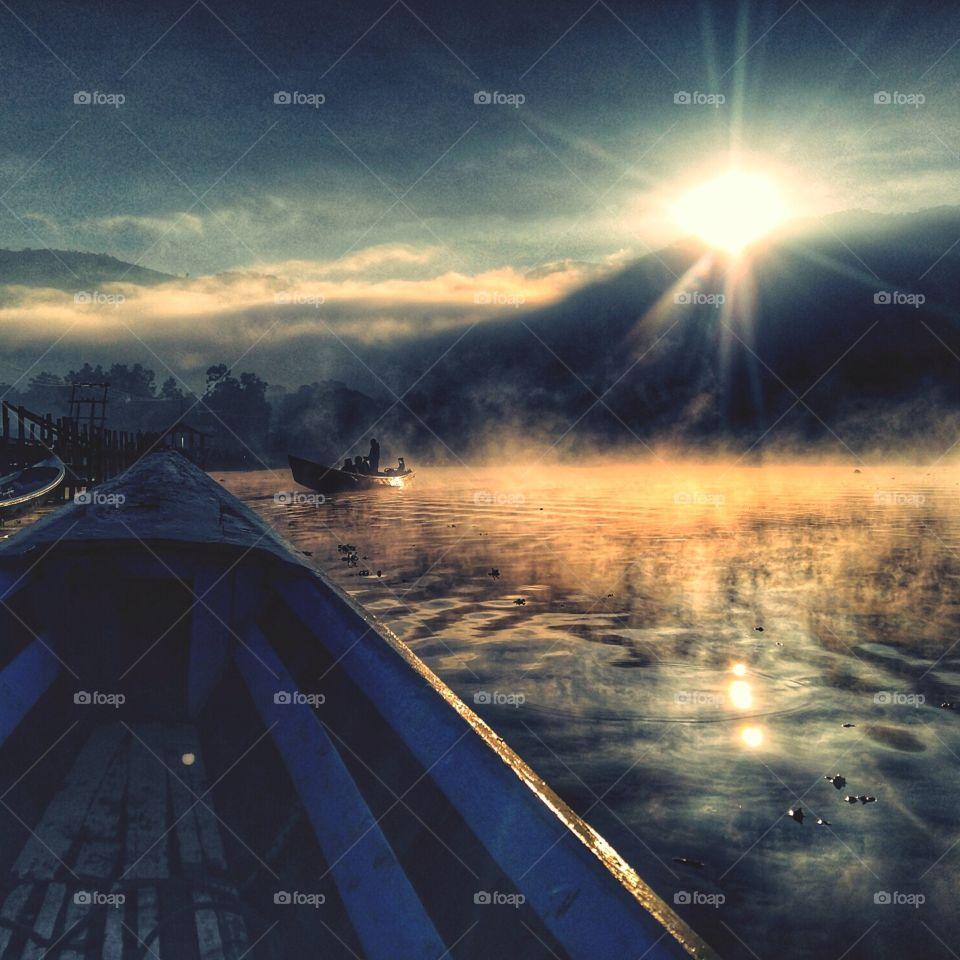 Sunrise in Inle Lake