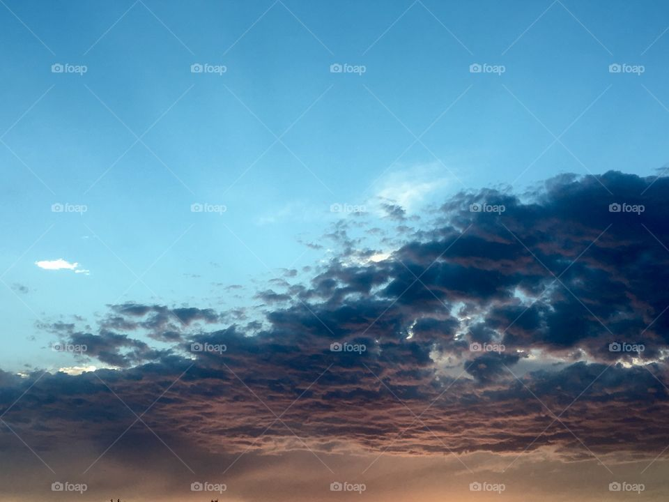 Perfect sky. Stormy clouds. Blue. Clouds. Beautiful sky