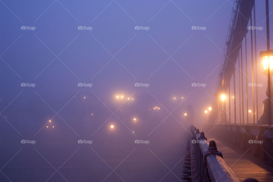 A foggy morning in Budapest