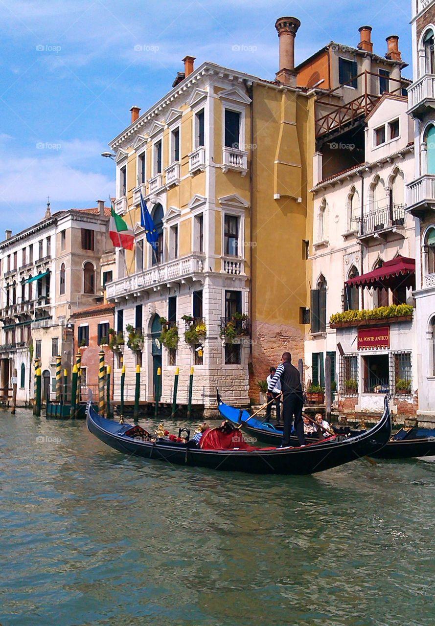 Building at Grand Canal, Venice, Veneto Region, Italy