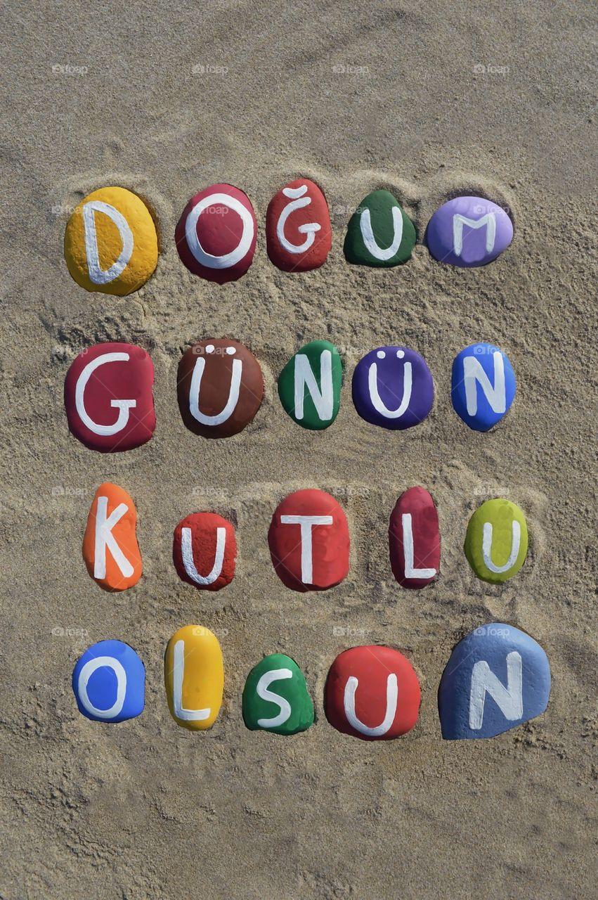 Foap.com: Doğum günün kutlu olsun, happy birthday in turkish stock