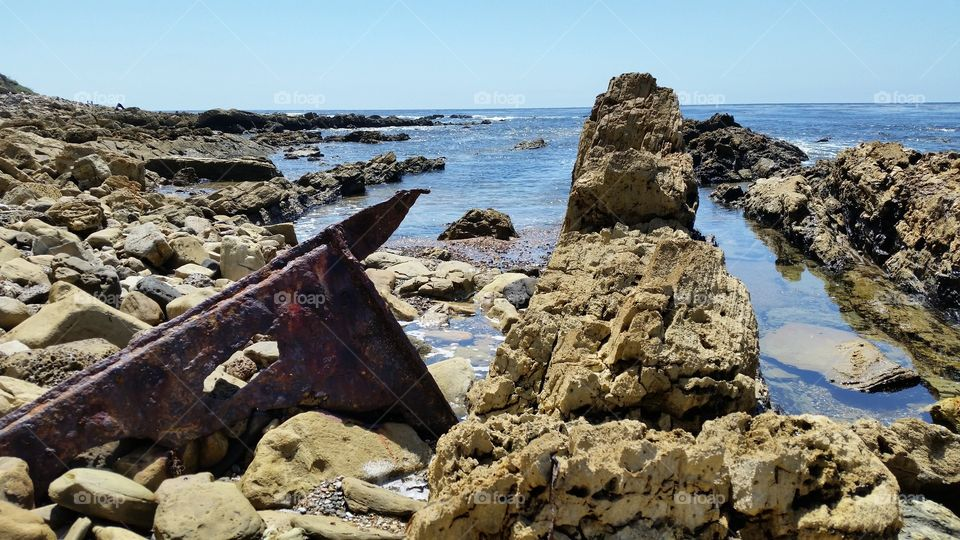 SS Dominator shipwreck. SS Dominator, a freighter, ran ashore on the Palos Verdes Peninsula in the South Bay area of California in 1961