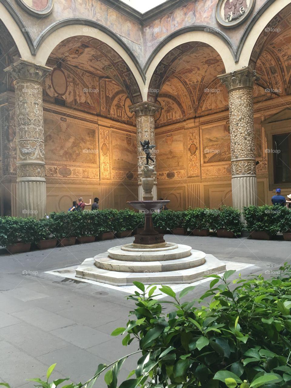 Cortile interno Palazzo Vecchio, Firenze, Toscana, Italia