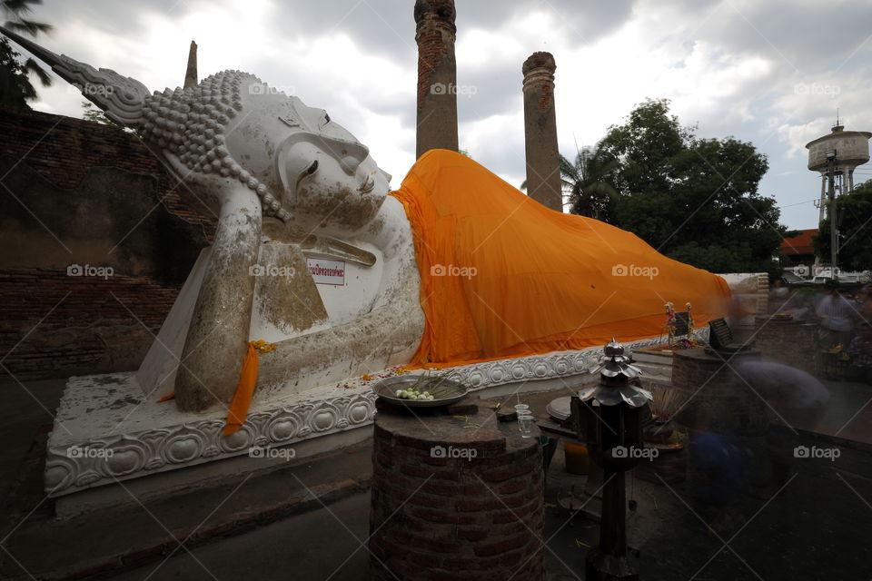 big buddha in Ayuthaya Thailand