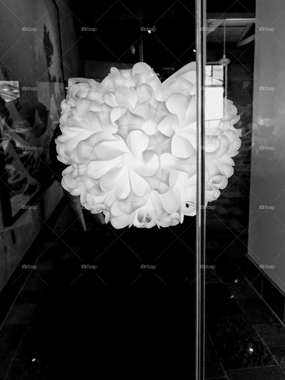 Black and White Fine Art Light made from Plastic