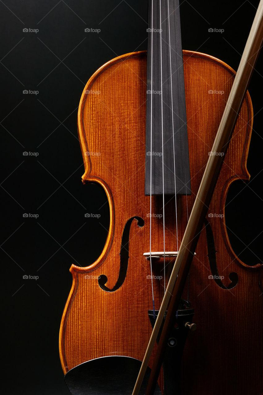 Close-up of a violin