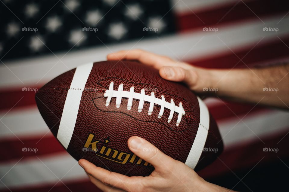 american football, ball, fans