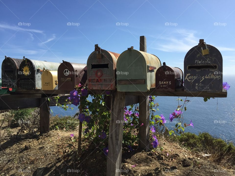 old mail boxes on the street