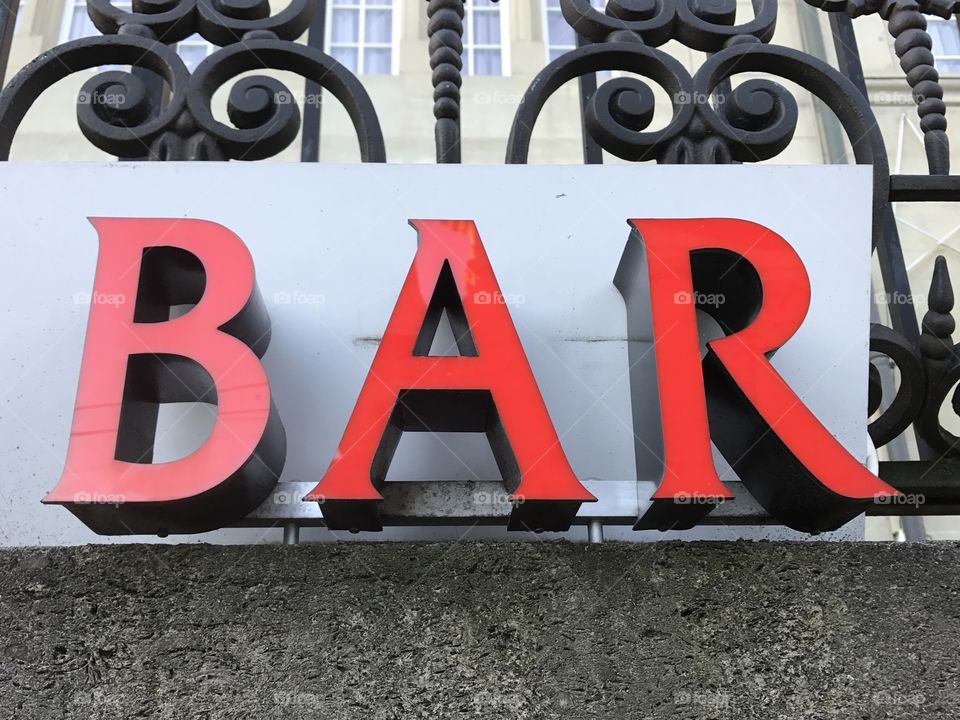Bar, neon sign