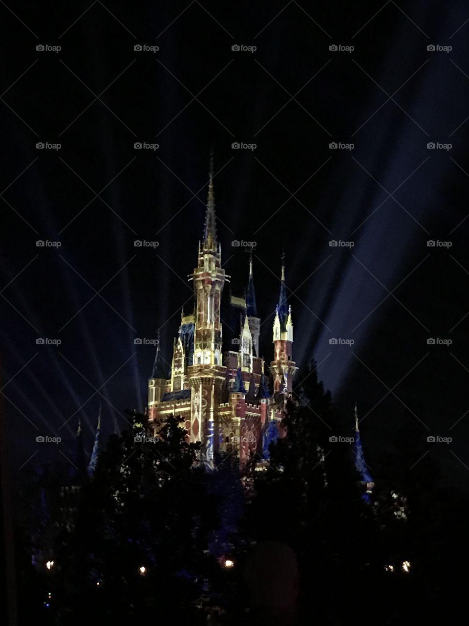 Walt Disney's Magic Kingdom Castle light show