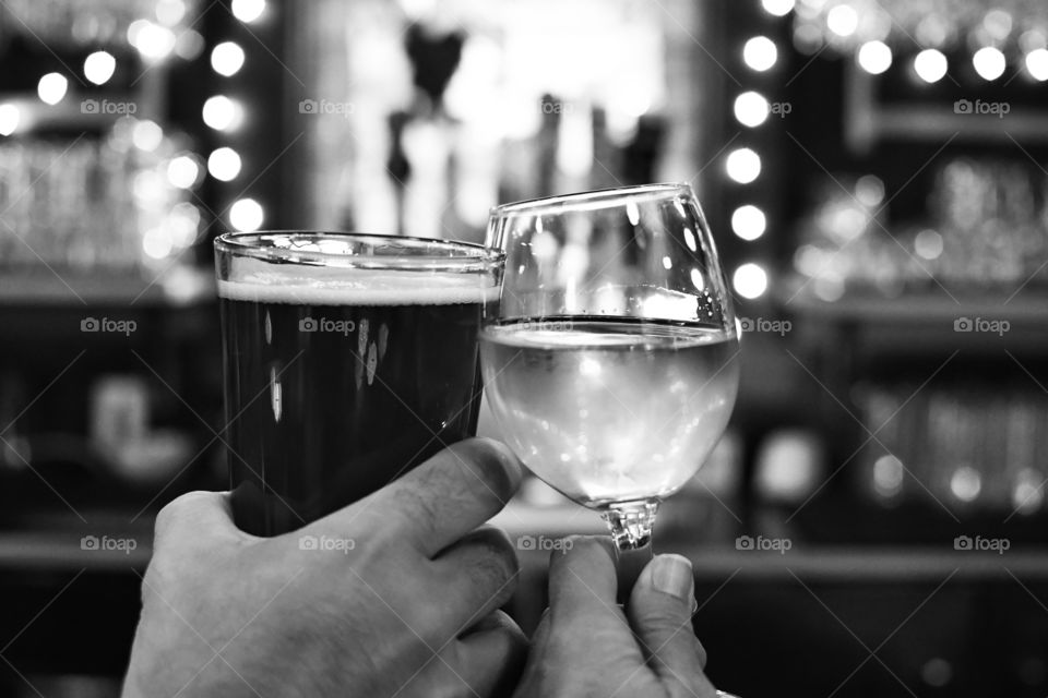 Cheers in Black and White