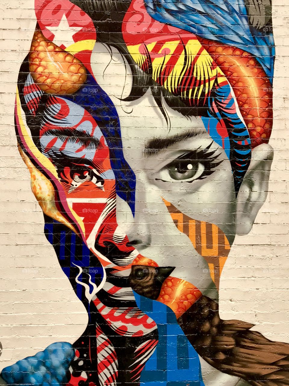 Audrey Hepburn Collage, New York City