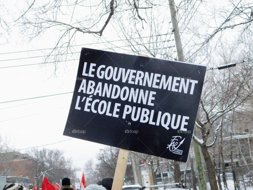 Je soutiens l'école publique