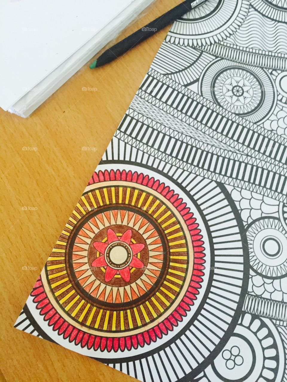Time art. Time art- coloring page