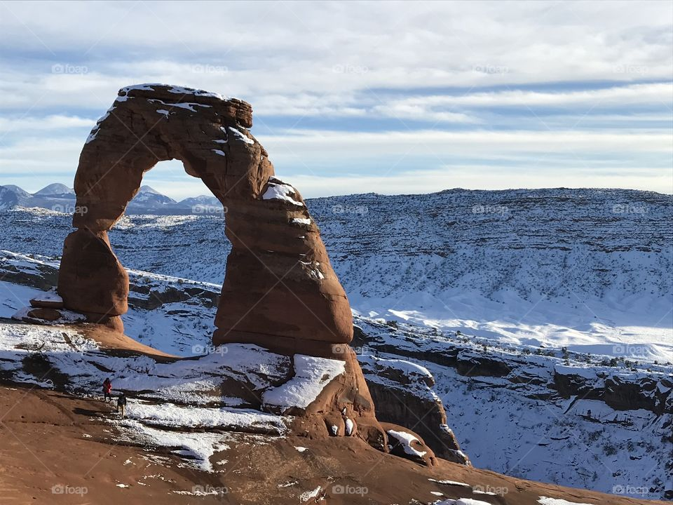 Arches National park winter time